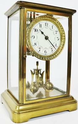 Schatz Torsion Anniversary 400 Day 4 Glass 1 Year Duration Mantel Clock C1900