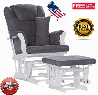 Glider Seat Chair Ottoman Arm Back Support Bedtime Toddler Colic Soothe Infant