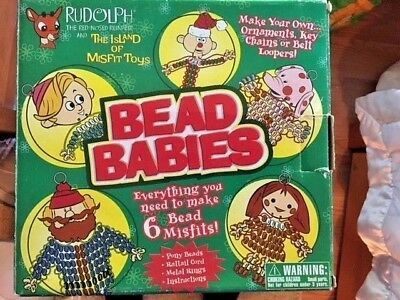 Rudolph the Red Nosed Reindeer & The Island of Misfit Toys Bead Babies Rare New
