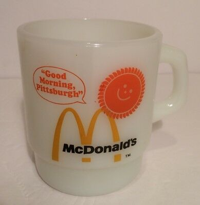 McDonald's Mug Good Morning Pittsburgh Anchor Hocking Fire King Made in U.S.A.