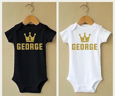 Personalised Baby Bodysuit Grow Vest gift Christening shower kid Birthday Outfit