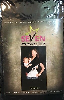 d6f00d8fb27 SEVEN EVERYDAY SLINGS Baby Carrier Sling Color Black Size 5 Large ...