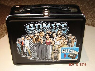 "HOMIES Metal ""OLD SCHOOL"" LUNCHBOX W/ METAL DRINK CONTAINER *NEW*"