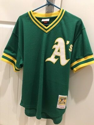 Authentic Oakland Athletics Mitchell And Ness Cooperstown Collection Jersey MLB
