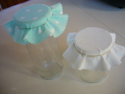 Fabric Jar Lid Covers X 30 For Your Home Made Jam Preserves Pickles Marmalade
