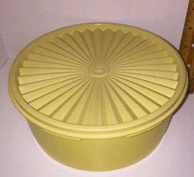Vintage Tupperware Yellow Canister 1204-6 Lid 1205-2