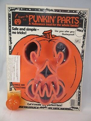 PUNKIN' PARTS - FACE IT - HALLOWEEN Pumpkin Face Cutter (1980) NOS - U FACE