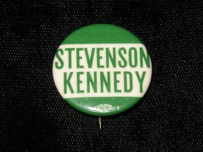 Stevenson/kennedy 1956 Democratic National Convention Jfk Vice President Button