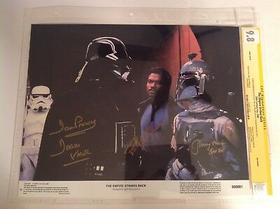 CGC 9.8 SS Star Wars The Empire Strikes Back Prowse Williams Bulloch Lobby Card