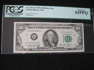 1974 $100 Federal Reserve Star Note PCGS 65PPQ