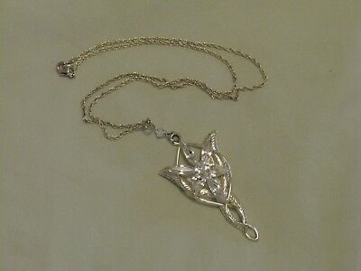 Lord of the Rings 'Arwen Evenstar' Noble Collection Authentic Silver Official