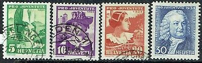 Switzerland.1934. Pro Juventute Costumes.used.& 1 Mlh.as Is.see Scan