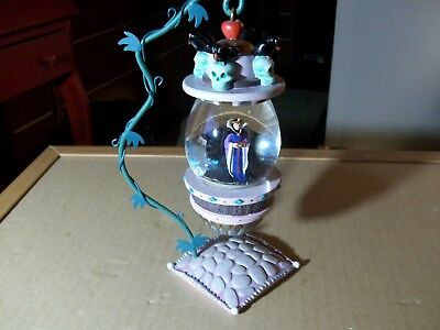 Disney Snow White Evil Queen Hanging Ornament Snow Globe with Stand