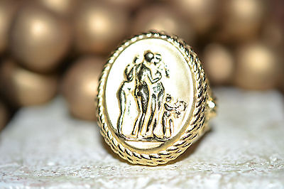 Tagliamonte 925Ss*ygpl* Ring * Medallion* 3 Graces*  Promo Sale* Bold*beauty