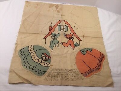 Vintage Embroidery Pot Holder Kit~Ladies With Dresses ~ Unfinished