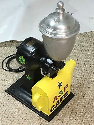 ANTIQUE COFFEE GRINDER by Holwick - Electric Counter Top  - Complete & Working