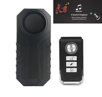 Remote Control Vibration Alarm Motorcycle Electric Security Mini Warning Sensor