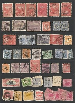 B/55> PAGE FULL of  AUSTRALIAN STATE STAMPS AS SCANNE2
