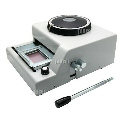 72 Letter Manual Embosser Machine PVC Gift Card ID Credit Embossing Stamps USA
