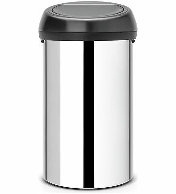 Brabantia 60 Litre Brilliant Stainless Steel Touch Bin