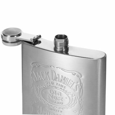 1Pcs Portable Stainless Steel 7oz Hip Flask Flagon Whiskey Wine Pot Bottle