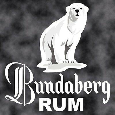 Bundaberg Rum Bear,Car Decal/Sticker 150x150mm, Cut out, Easy apply instructons