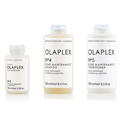 Olaplex 3 Hair Perfector 100ml, No.4 Shampoo 250ml & No. 5 Conditioner 250ml Kit