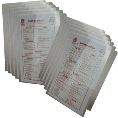 Bulk Pack  20 A4 2 Pocket Poly Menu