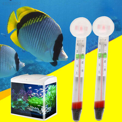 A178 1x Glass Fish Tank Water Temperature Sucker Thermometer Suction Cup ZY