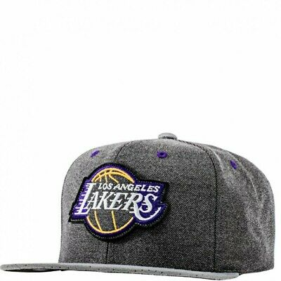 Lakers Homme Snapback Basketball Gris Mitchell & Ness