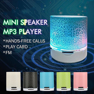 Luminous Lamp Rechargeable Music Speaker Portable Mini Super Bass TF USB !