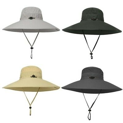 Summer Women Men Bucket Hat Outdoor Boonie Visor Hunting Fishing Wide Brim Cap