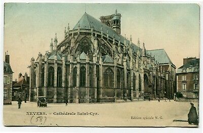 CPA - Carte Postale - France - Nevers - Cathédrale Saint Cyr - 1907 ( CP4868 )