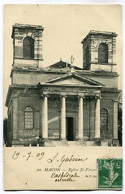 CPA - Carte Postale - France - Macon - Eglise Saint Vincent - 1909 ( CP4869 )