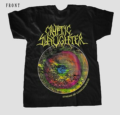 CRYPTIC SLAUGHTER-Stream of Consciousness- Thrash metal, T-shirt Sizes S to 7XL