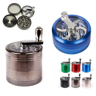 Metal Zinc Alloy Tobacco Herb Grinder 4-Layers Hand Muller Smoke Crusher