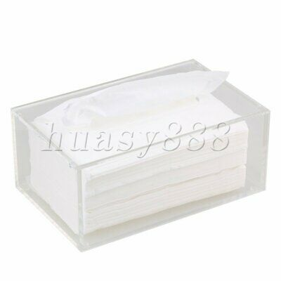 Acrylic Tissue Boxes Case Paper Cover Holder for Home Decor Transparent Clear