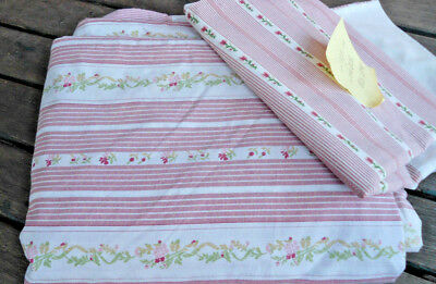 Vintage Double Bed Floral Dusty Pink  Doona Cover With Pillowcase Double Sided