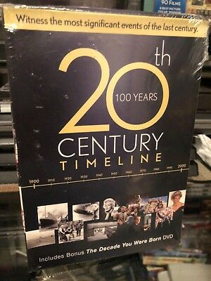 20th Century Timeline/The Decade You Were Born (DVD) 6-Disc Set! BRAND NEW!