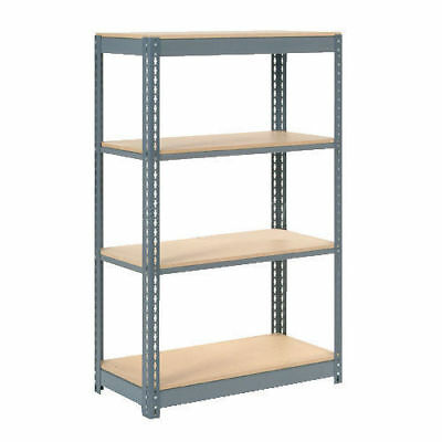"Boltless Heavy Duty Shelving 48""W x 24""D x 60""H, 4 Shelves, Wood Deck, Lot of 1"