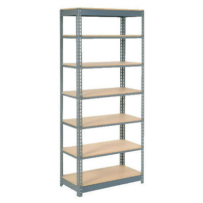 "Boltless Heavy Duty Shelving 48""W x 24""D x 84""H, 7 Shelves, Wood Deck, Lot of 1"