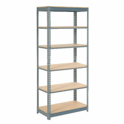 "Boltless Heavy Duty Shelving 48""W x 24""D x 60""H, 6 Shelves, Wood Deck, Lot of 1"