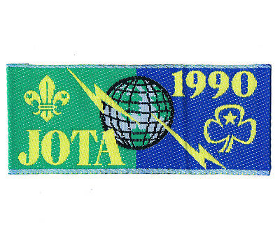 1990 Jota Jamboree On The Air Scouts Guides Badge / Patch / Strip