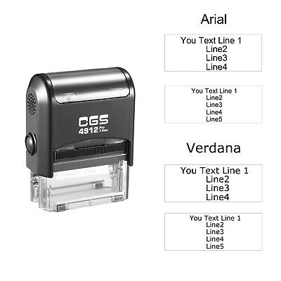 CGS Personalized Custom 4 Lines 5 Lines Return Address Self Inking Rubber Stamp