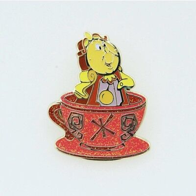 Authentic Hong Kong Disneyland Cogsworth Beauty and the Beast Teacup Enamel Pin