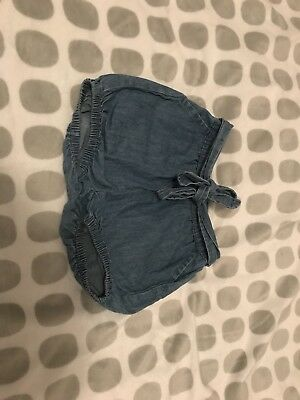 Seed Baby Chambray Shorts Size 0 (6-12 Months)
