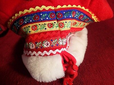 LAPLAND SAMI Four Winds RED HAT FINLAND FINNISH SWEDEN SWEDISH NORWAY NORGE