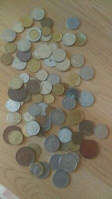 Job Lot Of Old Foreign Coins