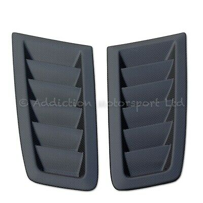 Pair of Ford Focus RS MK2 100% Full 3K Carbon Bonnet Vents in Matte