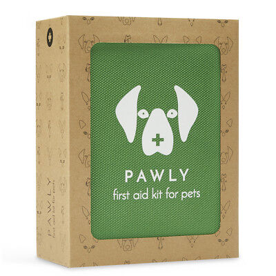 Pawly Pet First Aid Kit - Includes Over 40 Premium Items - Tick Remover, Syringe